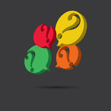 Vector of question marks icon Stock Image