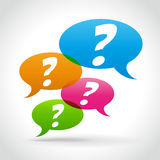 Vector questions concept Stock Images