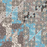Vector Quilt Abstract Seamless Pattern royalty free illustration