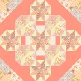 Vector Quilt Abstract Seamless Pattern stock illustration