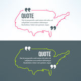 Vector quotation background with usa map outline Stock Photos