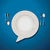 Vector of Quotation Marks Speech Plate Icon Royalty Free Stock Image
