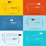 Vector quote backgrounds Royalty Free Stock Images