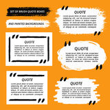 Vector Quote Boxes And Brush Strokes Royalty Free Stock Photo