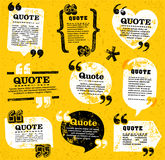 Vector quote decoration labels set 4 Stock Photography