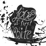 Vector quote hand drawn typographical on chalkboard background. Stock Photos