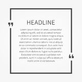 Vector quote sample text template Royalty Free Stock Image