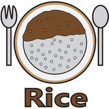 Vector quote sign food rice Royalty Free Stock Photos