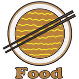 Vector quote sign noodle food Royalty Free Stock Photos