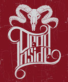 Vector quote typographical background ` Dead inside` Royalty Free Stock Image