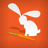 Vector rabbit with carrot Stock Photo