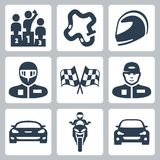 Vector race icons Royalty Free Stock Photos