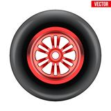 Vector race wheel and tire symbol Stock Photo