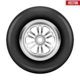 Vector race wheel and tire symbol Stock Photography