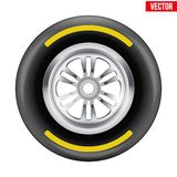 Vector Race wheel and tire symbol Stock Image