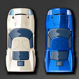 Vector racing cars Royalty Free Stock Photo