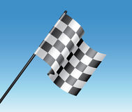 vector racing flag and blue sky Royalty Free Stock Photo