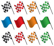 Vector racing flags Stock Photo