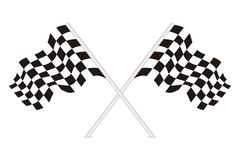 Vector of racing flags. Vector racing flags with white isolated background Stock Photos