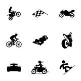 Vector racing icons set. On white background Royalty Free Stock Images