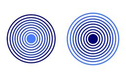Vector Radar Icons, Blue Colors, Isolated Illustrations. royalty free illustration