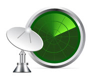 Vector radar screen Royalty Free Stock Images