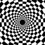 Vector radial a cuadros del fondo del modelo del círculo Imagen de archivo