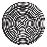 Vector radial rings burst of abstract circles. Black and white illustration pattern of concentric circular ripples vector illustration