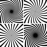 Vector radial spiral vortex swirl, Comic stripes twist hypnosis spiral rays.  stock illustration