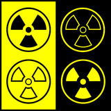 Vector radiation symbol icon Royalty Free Stock Photos