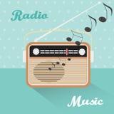 Vector radio illustration. Royalty Free Stock Photography