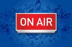 Vector Radio op Lucht Stock Afbeelding