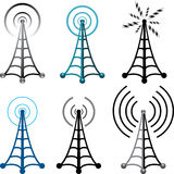 vector radio tower symbols Stock Photo