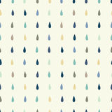 Vector rain drops background. Royalty Free Stock Images