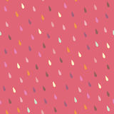 Vector rain drops seamless pattern. Endless texture can be used for printing onto fabric, paper or scrap booking, wallpaper, pattern fills, web page background royalty free illustration