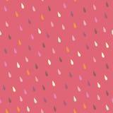 Vector rain drops seamless pattern Royalty Free Stock Image