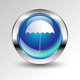 Vector rain protection icon handle concept Royalty Free Stock Photo