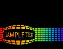 The vector rainbow abstract background with text Stock Photography