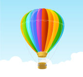 Vector rainbow air ballon background Royalty Free Stock Image