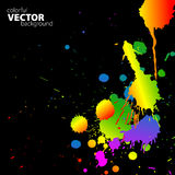 Vector rainbow background with splats. And place for your text stock illustration