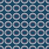 Vector rainbow circles seamless repeat pattern background. vector illustration