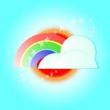 Vector rainbow cloud Royalty Free Stock Photo