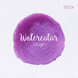 Vector rainbow color watercolor paint stain. Hand painted watercolor circle on watercolor paper texture. Watercolor abstract backdrop. Watercolor vector Royalty Free Stock Images