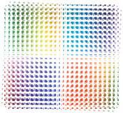 Vector Rainbow colored background Stock Images