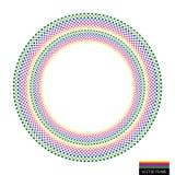 Vector rainbow creative checkered background Stock Image