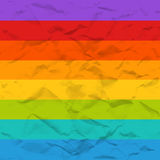 Vector rainbow crumpled paper seamless pattern Royalty Free Stock Image