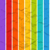 Vector rainbow crumpled paper seamless pattern Royalty Free Stock Photography
