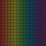 Vector rainbow dotted background Stock Image