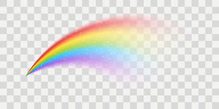 Vector rainbow element. With transparent effect Royalty Free Stock Photos