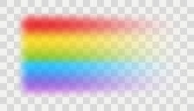 Vector rainbow element. With transparent effect Royalty Free Stock Images
